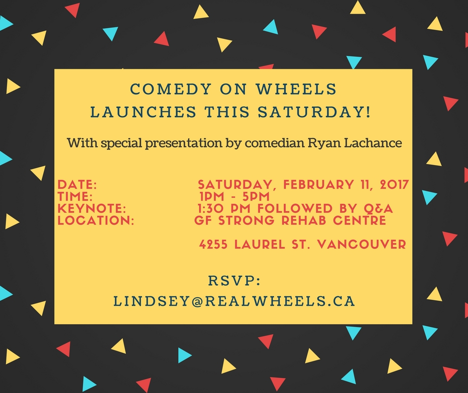 COMEDY ON WHEELS LAUNCHES THIS SATURDAY!