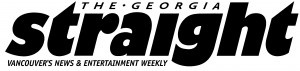 The Georgia Strait logo: the words The Georgia Straight, with Straight in a large font, underneath the words Vancouver News & Entertainment Weekly